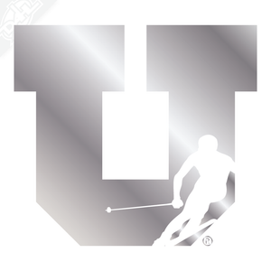 Block U Ski Vinyl Decal