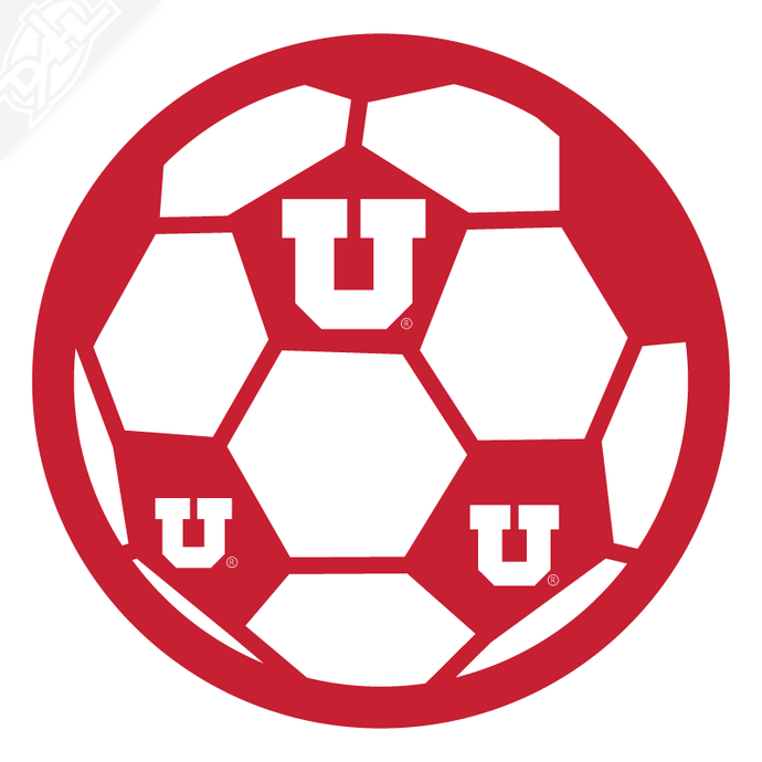 Block U Soccer Vinyl Decal