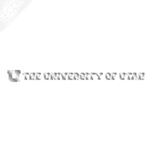 Small Circle and Feather University of Utah Vinyl Decal