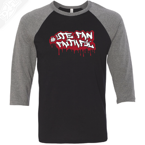 Ute Fan Faithful Graffiti - 3/4 Sleeve Baseball Shirt