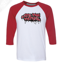 Load image into Gallery viewer, Ute Fan Faithful Graffiti - 3/4 Sleeve Baseball Shirt