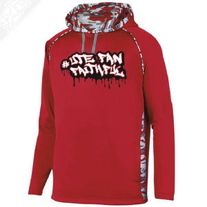 Ute Fan Faithful Graffiti - Red Mod Camo Hoodie