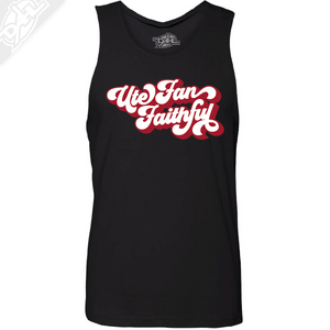 Ute Fan Faithful Retro - Mens Tank Top