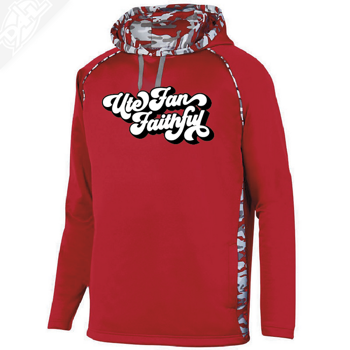 Ute Fan Faithful Retro - Red Mod Camo Hoodie