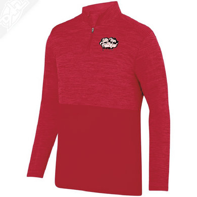 Ute Fan Faithful Script - Heather 1/4 Zip Pullover