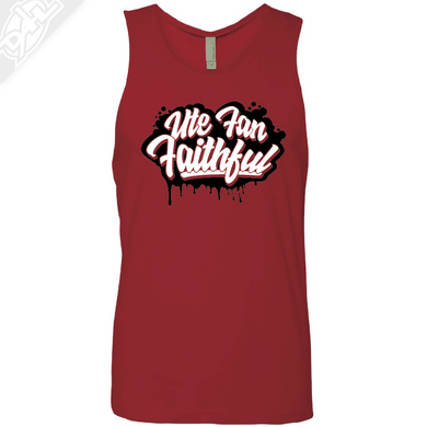 Ute Fan Faithful Script - Mens Tank Top