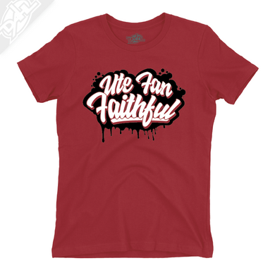 Ute Fan Faithful Script - Womens T-Shirt