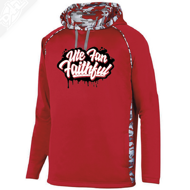 Ute Fan Faithful Script - Red Mod Camo Hoodie