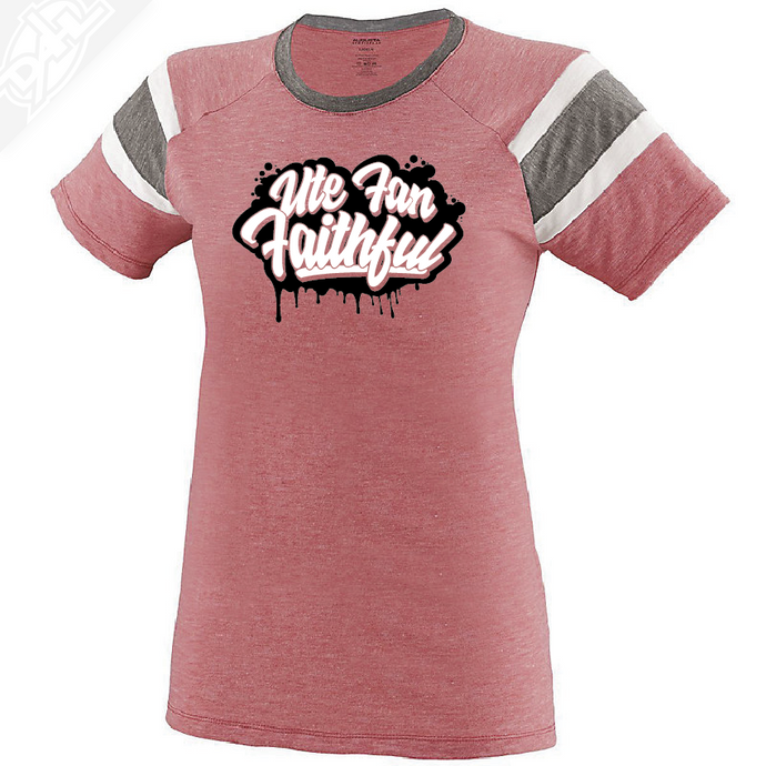 Ute Fan Faithful Script - Womens Fanatic Tee