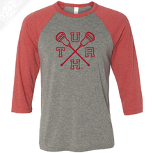 Load image into Gallery viewer, UTAH Lacrosse Sticks - 3/4 Sleeve Baseball Shirt