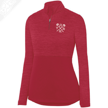 Load image into Gallery viewer, Cicle and Feather State- Heather Womens 1/4 Zip Pullover