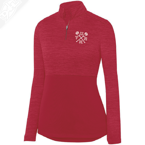 Cicle and Feather State- Heather Womens 1/4 Zip Pullover