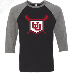 Interlocking UU Baseball - 3/4 Sleeve Baseball Shirt