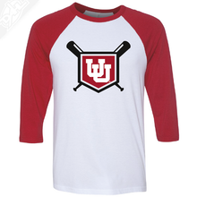 Load image into Gallery viewer, Interlocking UU Baseball - 3/4 Sleeve Baseball Shirt