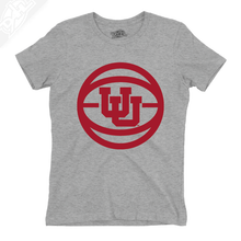 Load image into Gallery viewer, Interlocking UU Basketball - Womens T-Shirt