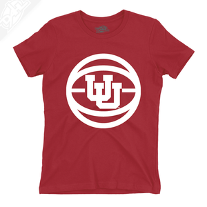 Interlocking UU Basketball - Womens T-Shirt