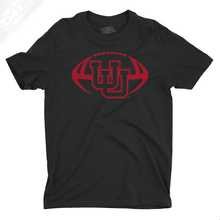 Load image into Gallery viewer, Interlocking UU Football Single Color - Boys T-Shirt