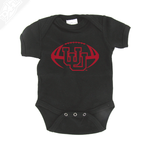 Interlocking UU Football Single Color - Onesie