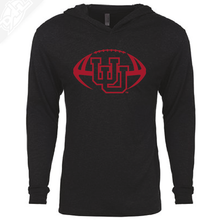 Load image into Gallery viewer, Interlocking UU Football Single Color - T-Shirt Hoodie