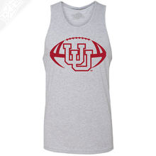 Load image into Gallery viewer, Interlocking UU Football Single Color- Mens Tank Top