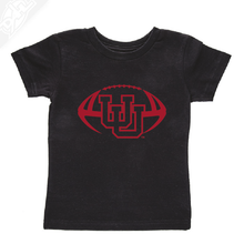 Load image into Gallery viewer, Interlocking UU Football Single Color- Infant/Toddler Shirt