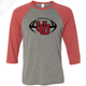 Interlocking UU Football - 3/4 Sleeve Baseball Shirt