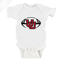 Load image into Gallery viewer, Interlocking UU Football - Onesie