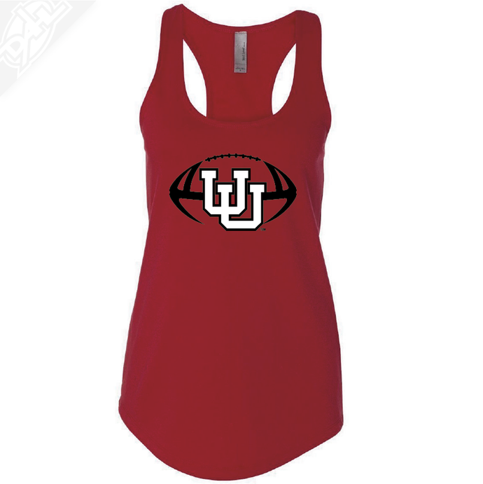 Interlocking UU Football- Womens Tank Top