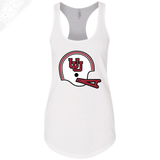 Interlocking UU Vintage Helmet- Womens Tank Top
