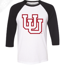 Interlocking UU Outlined - 3/4 Sleeve Baseball Shirt