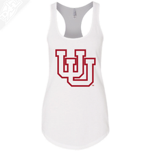 Load image into Gallery viewer, Interlocking UU Outlined- Womens Tank Top