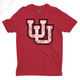 Interlocking UU Poly Pattern - Mens T-Shirt