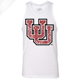 Interlocking UU Poly Pattern- Mens Tank Top