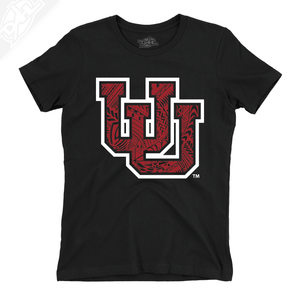 Interlocking UU Poly Pattern - Womens T-Shirt