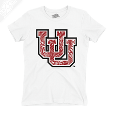 Load image into Gallery viewer, Interlocking UU Poly Pattern - Womens T-Shirt