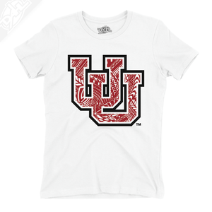 Interlocking UU Poly Pattern - Girls T-Shirt