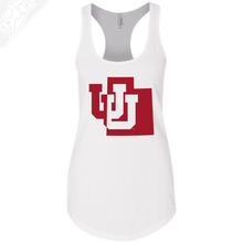 Load image into Gallery viewer, Interlocking UU State- Womens Tank Top