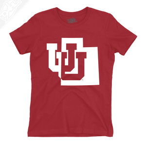 Interlocking UU State - Womens T-Shirt