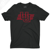 Load image into Gallery viewer, Interlocking UU w/Utah Stripe Single Color - Boys T-Shirt