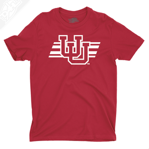 Interlocking UU w/Utah Stripe Single Color - Boys T-Shirt