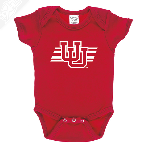 Interlocking UU w/Utah Stripe Single Color - Onesie