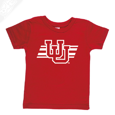 Interlocking UU w/Utah Stripe Single Color- Infant/Toddler Shirt