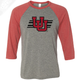 Interlocking UU w/Utah Stripe - 3/4 Sleeve Baseball Shirt