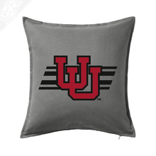Load image into Gallery viewer, Interlocking UU w/Utah Stripe - Pillow
