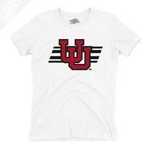 Load image into Gallery viewer, Interlocking UU w/Utah Stripe - Womens T-Shirt