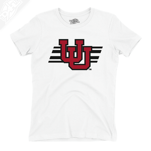 Interlocking UU w/Utah Stripe - Womens T-Shirt