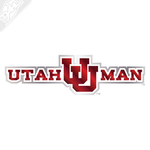Utah Man am I 2 Color Chrome Vinyl Decal