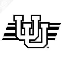 Load image into Gallery viewer, Interlocking UU W/Utah Stripe Vinyl Decal