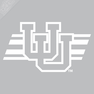 Interlocking UU W/Utah Stripe Vinyl Decal