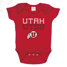 Utah Utes Outlined Circle and Feather - Onesie
